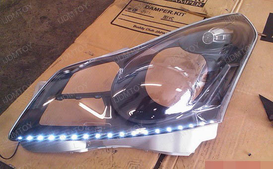 Infiniti - G35 - LED - strip - headlights - 2